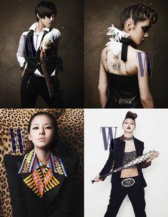 2NE1화보(투애니원화보)/박봄 솔로] 투애니원 패션잡지 W 화보 촬영 & 박봄 솔로 : 네이버 블로그