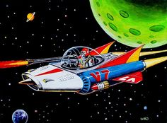 retro space ship