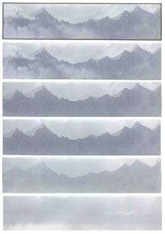 3 Copic tutorial: C1/C2/C3 à partir du bas vers le haut.  Première case: Wide Copic C1. Deuxième case, silhouette montagnes: Sketch Copic C2. Troisième case Sketch Copic C3.  #copic #stefanotamiazzo #widecopic #sketchcopic