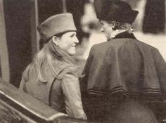 Diana and Sarah at Christmas 1986