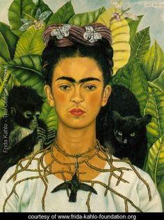 Self Portrait With Monkeys 1940 - Frida Kahlo - www.frida-kahlo-foundation.org
