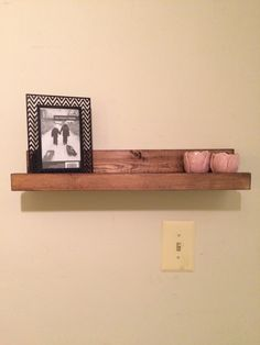 Rustic wood floating shelf, wooden ledge shelf, rustic home decor, gallery display shelf, picture display, shelf with ledge, spice rack by SheltonWoodworks on Etsy