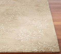 All-Over Coral Rug Swatch #Pottery Barn