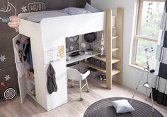 Canwood Skyway Twin Loft Bed With Desk Amp Storage Tower