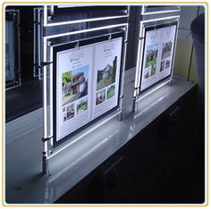 Real Estate Agent Window Light Box with Hanging Accessories (A3)