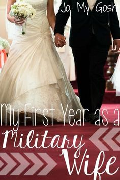 Tons happens in your first year as a military spouse! Here's what I've learned in the first 365 days. #milso #milspouse #marriage
