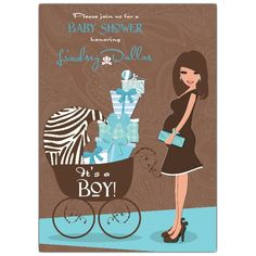 Cowboy Baby Boy Shower Ideas | Hot Mama Double Baby Shower Invitations - 606-57-BSBY-DBL