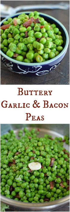 Butter, garlic and bacon are the easiest way to sell peas to my boys! This is a favorite side dish here on the farm! Little Dairy on the Prairie