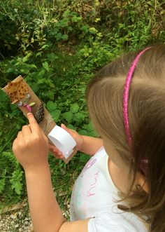 journey stick outdoors activity children- collect items while on a walk and attach to cardboard using some double-sided tape