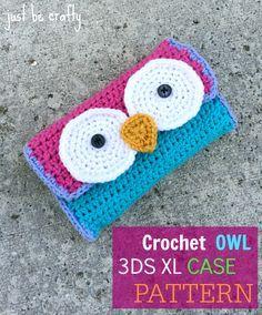 Crochet owl 3DS Case Free Pattern!