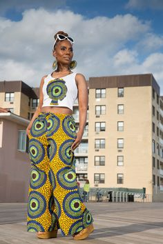 D A N I AfroT Crop Tank Top with African Print by LiLiCreations