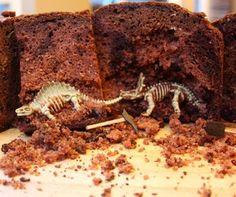 Dinosaur Excavation Cake Instructions! So cool. Like the money cake!