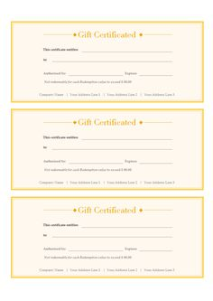 b44d835b9774 A free customizable gift voucher template is provided to download and  print. Quickly get a