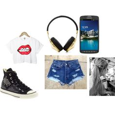 A fashion look from March 2014 featuring summer shirts, high waisted shorts and frends headphones. Browse and shop related looks.
