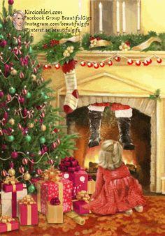 Merry Christmas To All, Xmas, Christmas Tree, Wonderful Time, Santa, Holiday Decor, Animation, Holidays, Awesome