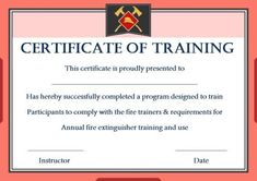 Safety Certificate Templates - Baeti with regard to Safe Driving Certificate Template - Best & Professional Templates Ideas Blank Certificate Template, Graduation Certificate Template, Certificate Of Achievement Template, Award Template, Printable Certificates, Fire Extinguisher Training, Fire Extinguisher Service, Fire Safety Certificate, Training Certificate