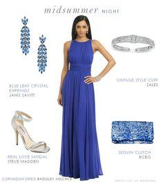 Blue formal dress by Badgley Mischka