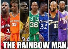 Shaq is the rainbow man! - #fanzz #fanzz.com