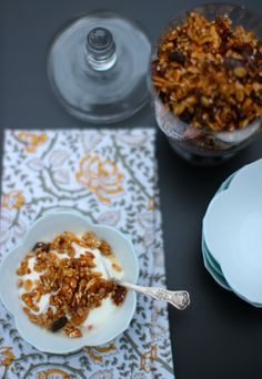 Pitta Breakfast: Olive Oil Granola with Almonds and Dates