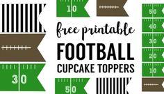 Football Cupcake Toppers Free Printable