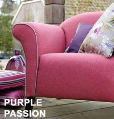 Finest quality upholstery fabric - Purple Passion