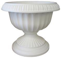 "Bloem 18"""" Grecian Urn White GU18-10"
