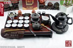 On sales 29pcs Chinese gift zi ni purple clay zisha tea set tea pot cup tea tray #Yixing