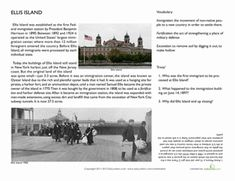 Help on my thesis statement for Ellis Island?