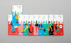 D-06-paris-charte-graphique-map-design B-01-paris-pass-lib-editorial-design Branding Paris Logo design minimal illustrations colors fresh map minimalist flat