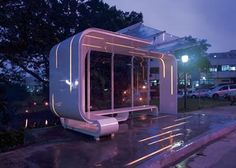 bus stop design Urban Furniture, Street Furniture, Urban Landscape, Landscape Design, Bus Stop Design, Design Commercial, Bus Shelters, Shelter Design, Artistic Installation