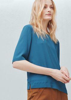 Metal appliqué blouse - Women | MANGO USA