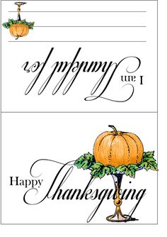 Thanksgiving 'I am thankful' printables