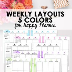 Editable Happy Planner Weekly Spread Color Pack, Happy Planner Inserts, Editable Printable Templates, 7 x 9, Classic Size, Instant Download https://www.etsy.com/listing/530424301