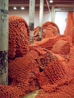 #textile art  Looks like coral or something nautical to me