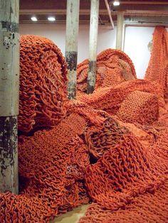crochet installation / accumulation