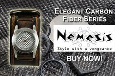 Nemesis Watch: Elegant Carbon Fiber Series Starting $69.95 with 20% Off, Buy Now!