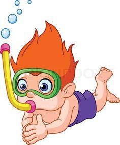 menino mergulhador