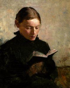 Reading woman, 1886, Even Ulving.  Norwegian (1863 – 1952)