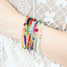 Jewel Bracelet In Topaz