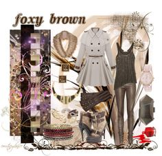 """""""Foxy Brown"""" by courtneydanice ❤ liked on Polyvore"""