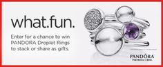 PANDORA Giveaway - Win PANDORA Droplet Rings to stack or share... sweepstakes IFTTT reddit giveaways freebies contests