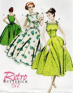 Vintage/Retro 50's Dress PATTERN Rockabilly/Swing Dance | eBay/ You never know when you need this kinda pattern.