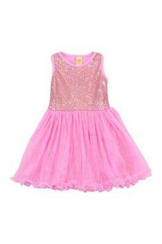 Sequin Tutu Dress (Toddler & Little Girls)