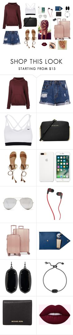 """Road trip to Baylor"" by gabriellaallen on Polyvore featuring CITYSHOP, NIKE, MICHAEL Michael Kors, Hollister Co., Sunny Rebel, Skullcandy, CalPak, STOW and Kendra Scott"