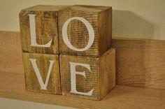 Wooden Love cubes / love blocks / Loveblocks / Gift for her / Gift for him by JasonLab on Etsy