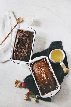Soaked Lemon Pound Cake with Seasonal Fruit and Chocolate Hazelnut Banana Pound Cake | Wolf Gourmet