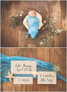 Styled Newborn Photography, Ocean Newborn Photography, Sea Baby, Nautical Newborn Photography, Beach Baby Newborn Photography, Image by Tigerlily Photography of Raleigh/Cary, NC