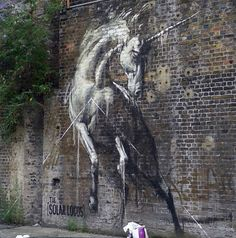South African Street Artist has put up some new pieces around East London! NO not the sleepy little town of East London in Eastern Cape but East London, England. Keep up the good work! Found on: Street Art News 3d Street Art, Urban Street Art, Amazing Street Art, Street Artists, Amazing Art, Awesome, Banksy, Graffiti Art, Graffiti Quotes