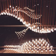 """Lights #designmuseum #instalation #london #light""  See the new Plumen 002 featured in Light Wave at - http:www.plumen.com"