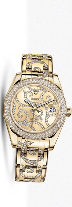 Rolex Watch, a bit gaudy ( or maybe too ornate is a better description) for my taste. But, OMG, what a watch!!!